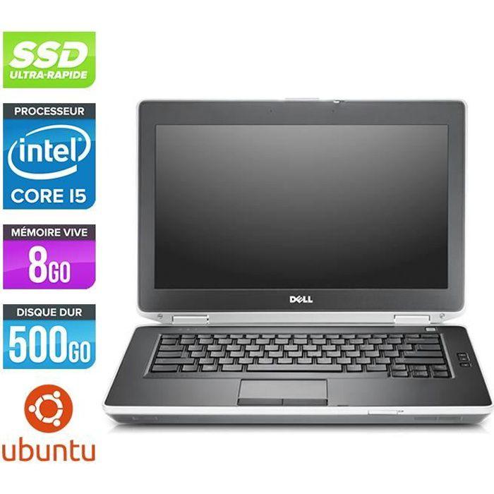 Pc portable Dell E6430 - Core i5 - 8 Go - SSD 500 Go - Linux