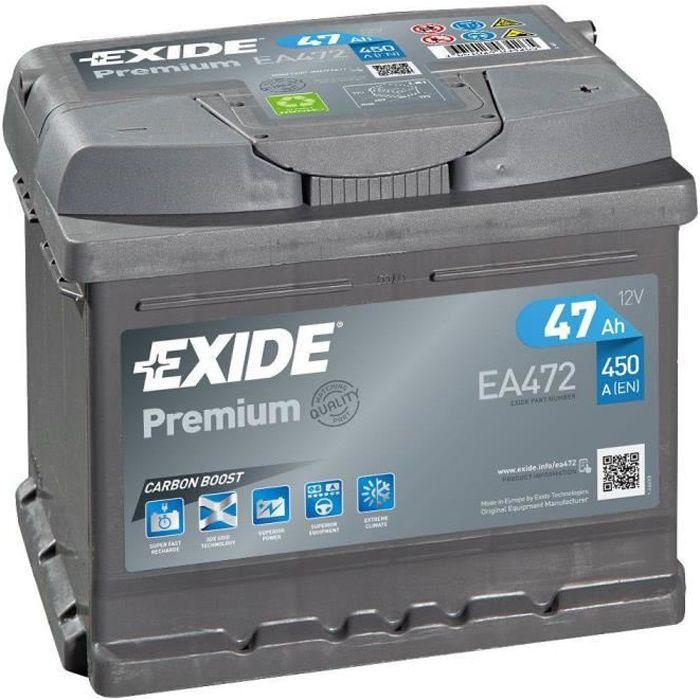 Batterie voiture Exide EA472 FA472 12v 47ah 450A
