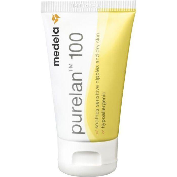 MEDELA Crème PureLan™ 100 (tube de 37g) Protège et soulage les mamelons sensibles pendant l'allaitement
