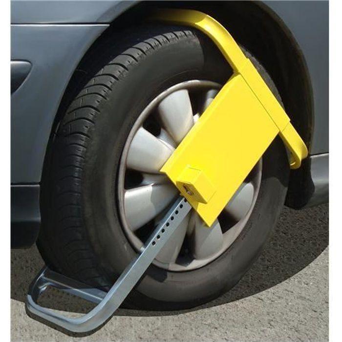 Antivol bloque roue voiture ou caravane Mottez …