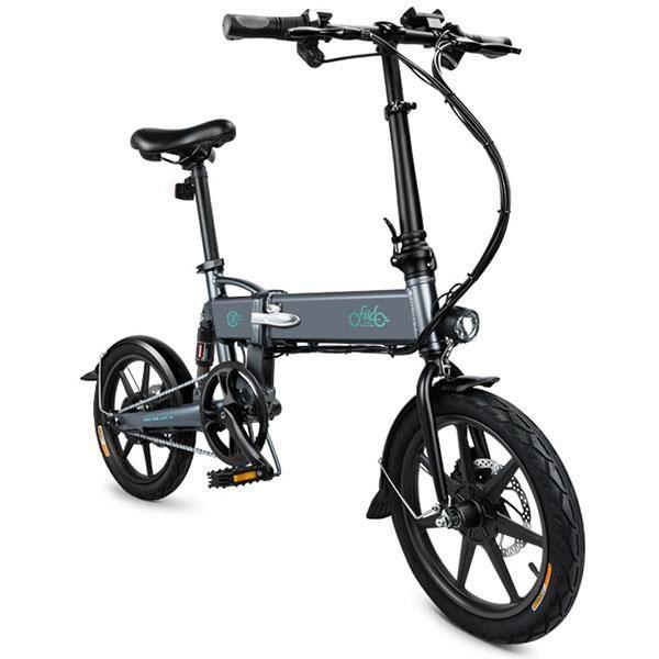 Vélo Electrique FIIDO D2 VTT adulte Pliant Cyclomoteur E-Scooter Intelligent 250 W 25 km/h 7.8AH avec doubles freins à disque Gris