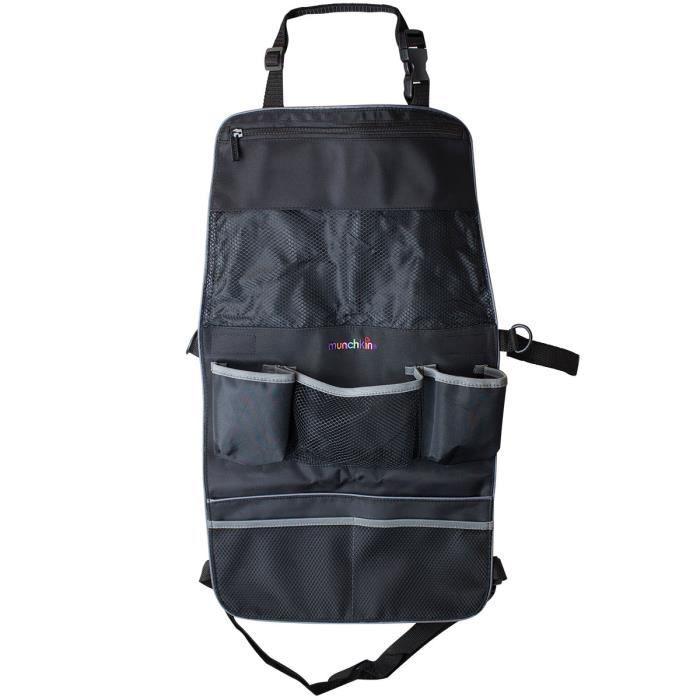 Munchkin Organisateur de siège arrière et de poussette, Organiseur de siège enfant pour voiture, Noir, 65 mm, 215 mm, 190 mm