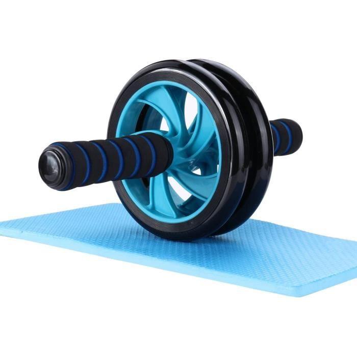 roue abdominale, roue fitness, roue AB avec tapis pour les genoux, pour le fitness et l'entraînement des abdominaux / muscles de l'é