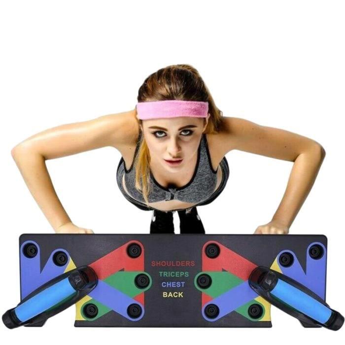 Poignées de Pompe, Support Pliable 9 en 1 avec poignée pour Salle de Musculation, entraînement à la Maison, Pratique Musculaire 2Pcs