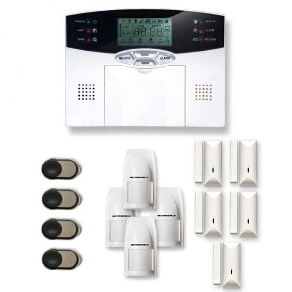 Alarme maison sans fil 4 à 5 pièces MN mouvement et intrusion - Compatible Box