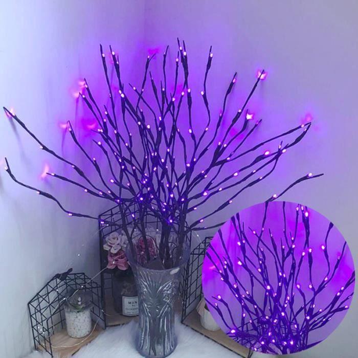 VICOODA 20pcs 80 LED guirlande lumineuse simulation branche d'arbre décorations pour la maison décorations de noël G