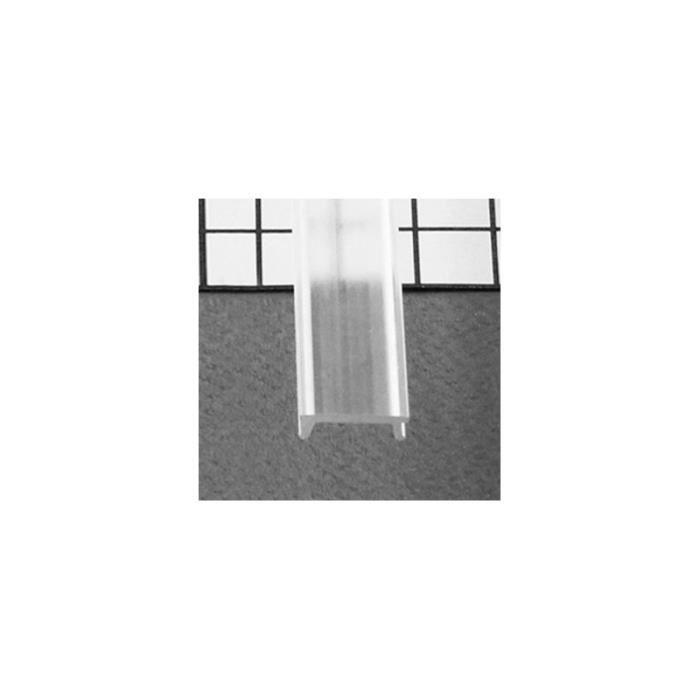 Diffuseur Clip Profile 17.6mm Transparent 2m pour bandeaux LED