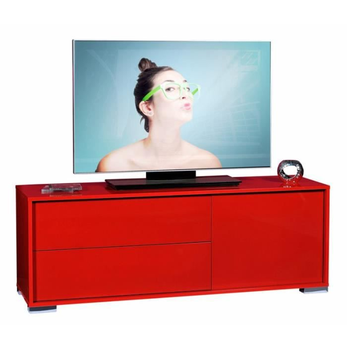 meuble tv rouge 1 porte 2 tiroirs navo achat vente meuble tv meuble tv rouge 1 porte 2 t. Black Bedroom Furniture Sets. Home Design Ideas