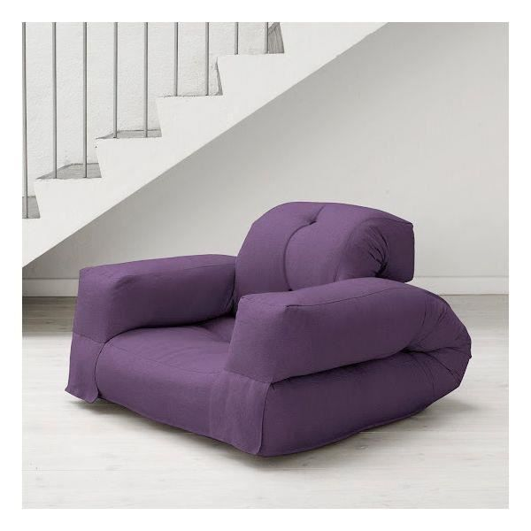 fauteuil convertible hippo 90 futon purple achat vente fauteuil cdiscount. Black Bedroom Furniture Sets. Home Design Ideas