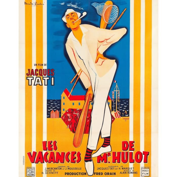 vacances de mr hulot les repro poster 60x80 achat vente affiche cdiscount. Black Bedroom Furniture Sets. Home Design Ideas