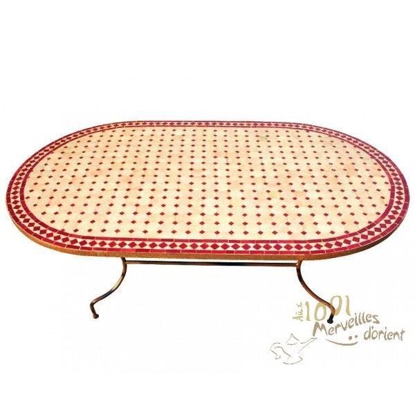 Table Marocaine Ovale en Fer Forgé et Céramique… - Achat ...