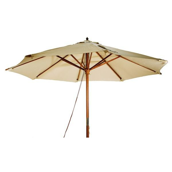 parasol en bois luxe 3x4m sable achat vente parasol. Black Bedroom Furniture Sets. Home Design Ideas