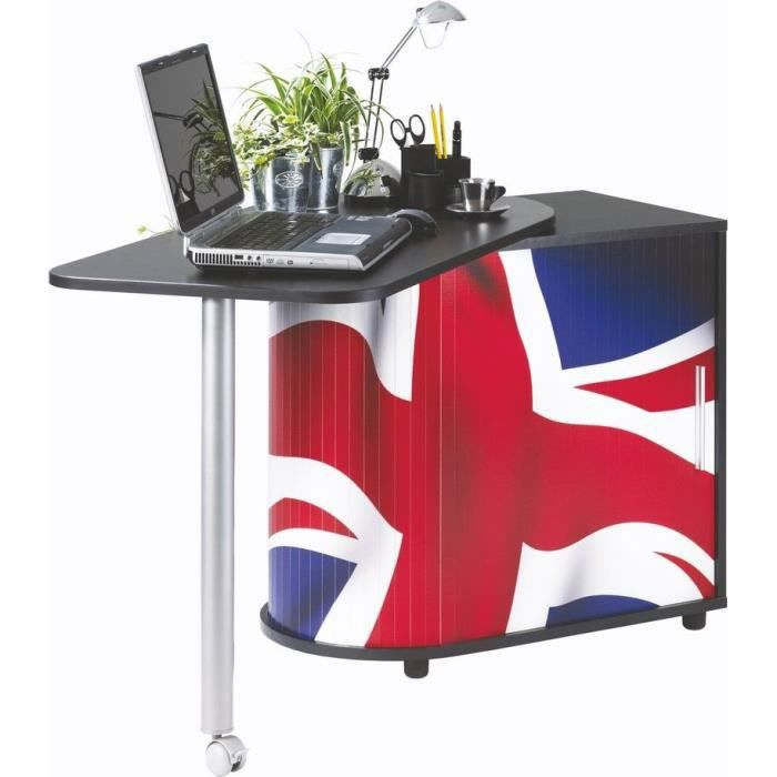 bureau informatique gain de place london achat. Black Bedroom Furniture Sets. Home Design Ideas