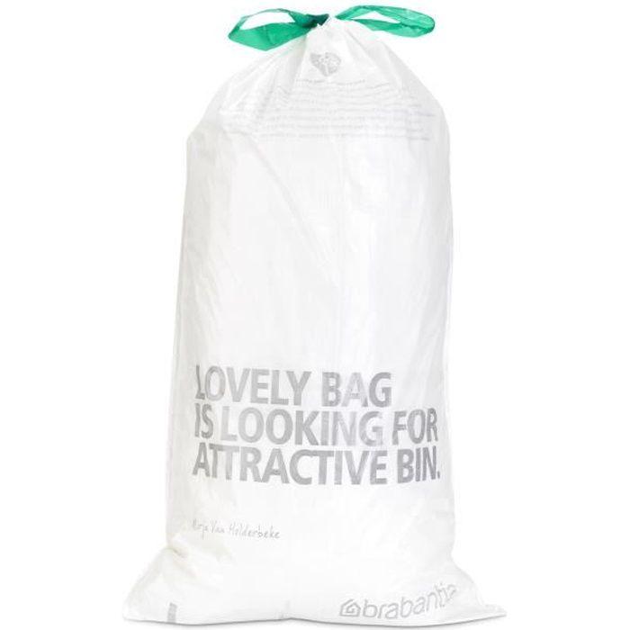 Brabantia 50-60 L Litres Sacs poubelles de déchets Sacs Type H Taille