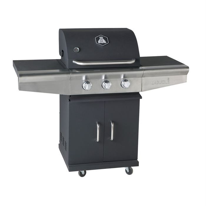 barbecue gaz laguiole 3 br leurs inox mobile achat vente barbecue barbecue gaz laguiole. Black Bedroom Furniture Sets. Home Design Ideas