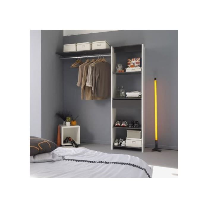 kit amenagement placard 180 cm 1 tiroir 1 penderie achat vente penderie souple kit. Black Bedroom Furniture Sets. Home Design Ideas