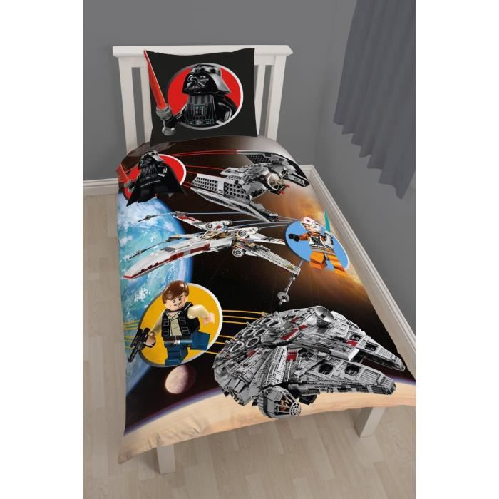 linge de lit parure de drap lego star wars de disn achat. Black Bedroom Furniture Sets. Home Design Ideas