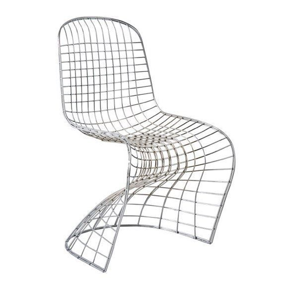 Chaise design fantome spider grillage chrom achat for Chaise grillage design