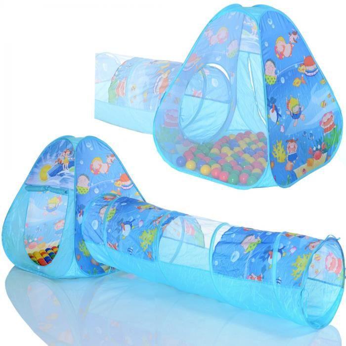 Blanc-Jaune-Orange-Babyblue-Turquoise Bleu Selonis Tente 105X90cm//100 Balles Ch/âteau Avec Les Balles Plastiques Piscine /À Balles Pour Enfants