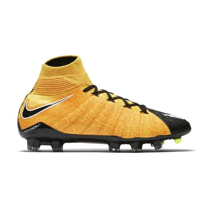 factory price 83958 8b69b Chaussures football Nike Hypervenom Phantom III DF FG Orange-Noir Junior