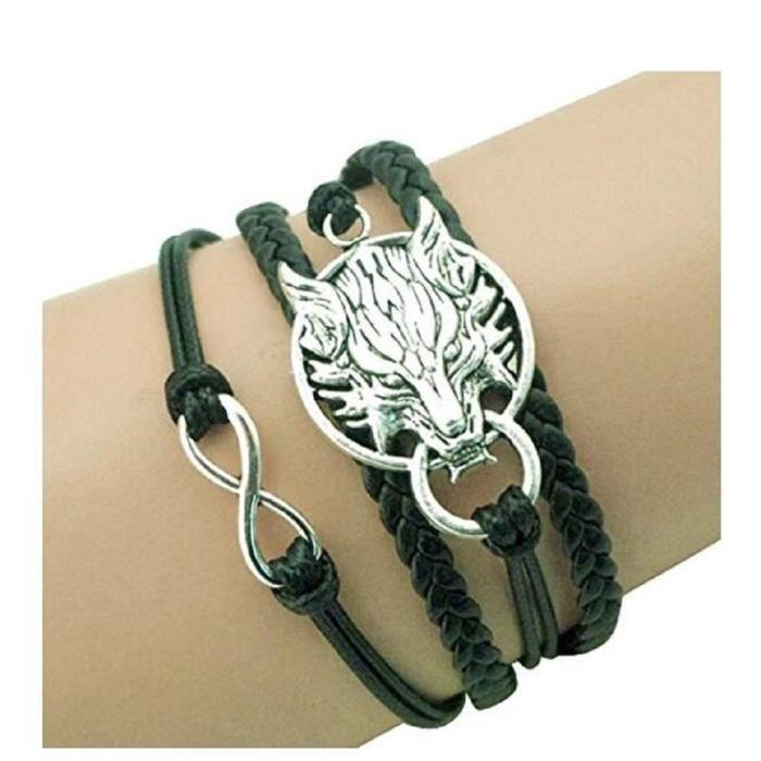BRACELET - GOURMETTE Bracelet avec Loup Chaine Bracelet Alliage Accesso