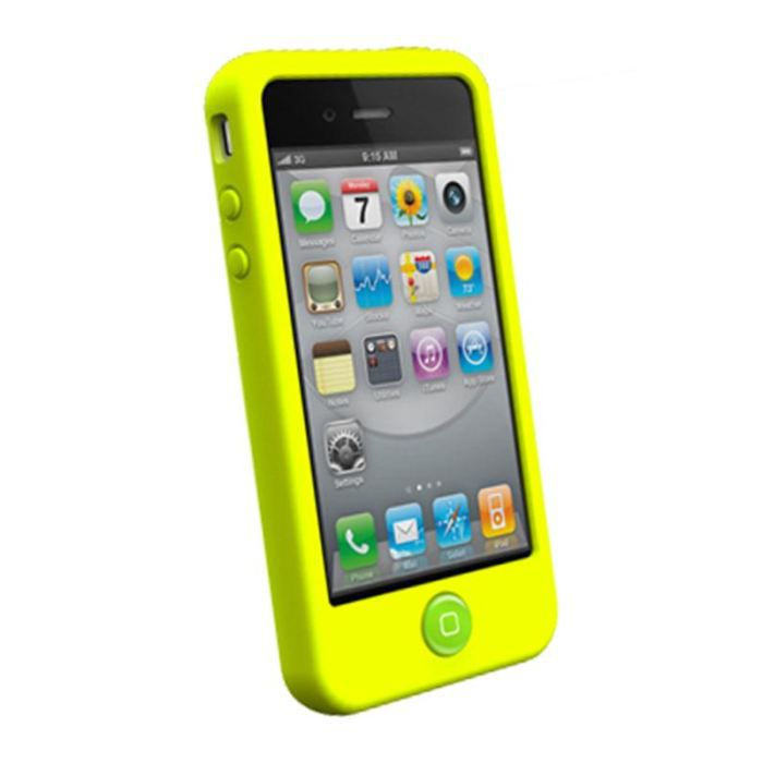 coque iphone 4 d 39 origine switcheasy colors citron achat coque bumper pas cher avis et. Black Bedroom Furniture Sets. Home Design Ideas