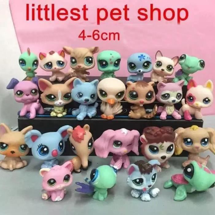 figurine 24 pi ces littlest petshop anime jouets 4 6cm. Black Bedroom Furniture Sets. Home Design Ideas