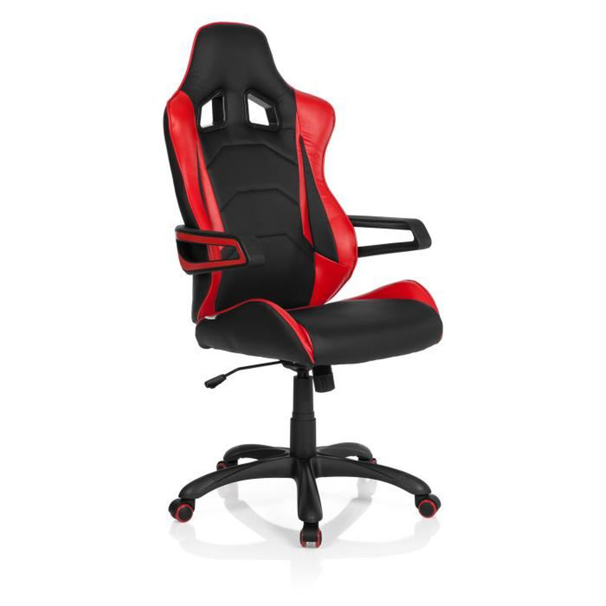 chaise gaming chaise de bureau racer pro i pu noir rouge. Black Bedroom Furniture Sets. Home Design Ideas