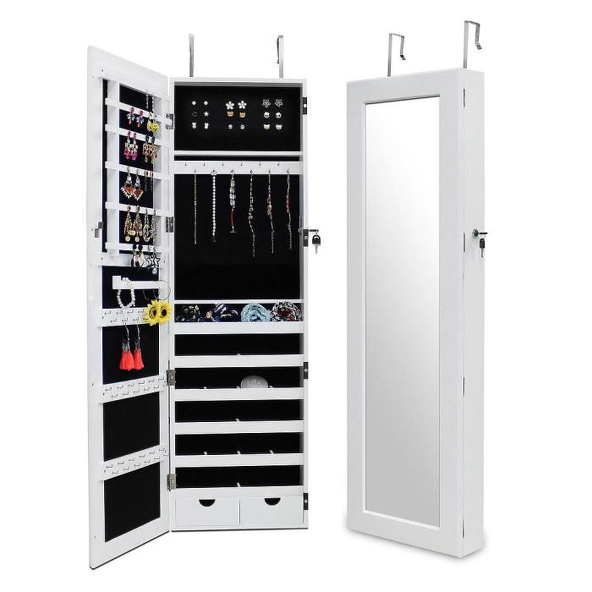 armoire a bijoux miroir achat vente armoire a bijoux. Black Bedroom Furniture Sets. Home Design Ideas