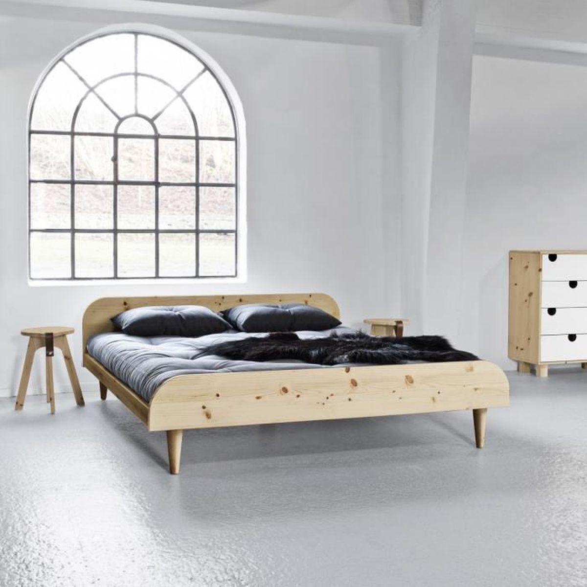 tete de lit futon achat vente pas cher. Black Bedroom Furniture Sets. Home Design Ideas