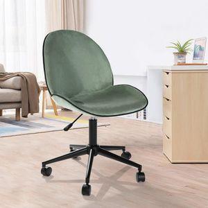 CHAISE DE BUREAU FurnitureR Chaise de Bureau Roulant Pivotant Haute