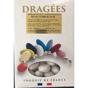 DRAGÉES Dragées Amandes 1kg- blanc