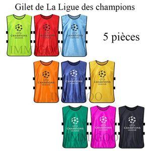 MAILLOT DE FOOTBALL Lot de 5 Pieces Gilet de La Ligue des champions Ma