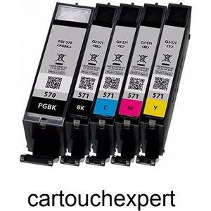 10 Pack Cartouche Compatible avec Canon PGI-580XXL-CLI-581XXL Pour PIXMA TS6251,PIXMA TS8251-2Noir-2Petit noir-2Cyan-2Magenta-2Jaune