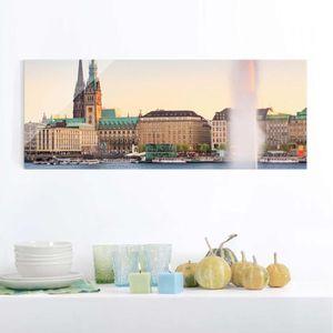 CADRE PHOTO 40x100 cm verre image - lac alster - croix panoram