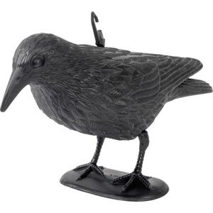 appelant pour Chasse ARTECSIS Lot de 6 Corbeaux Noirs en Plastique avec Tige de Fixation et Pieds Anti-Pigeons