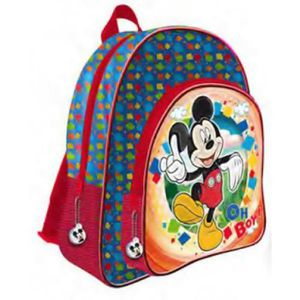 CARTABLE MICKEY ET SES AMIS - Grand cartable 2 zips adaptab