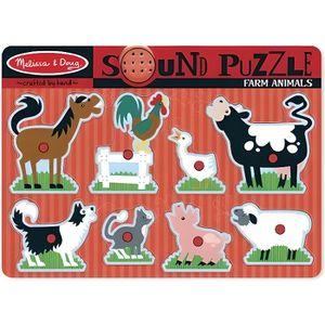 PUZZLE MELISSA & DOUG Puzzle Sonore - Animaux De La Ferme