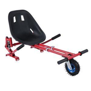 ACCESSOIRES GYROPODE - HOVERBOARD Kit Kart Universel - Siège Pour Hoverboard - Rouge