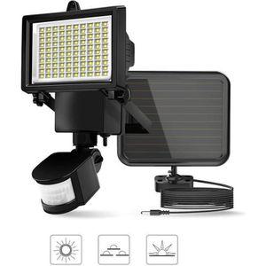 LAMPE DE JARDIN  Applique LED Mur Projecteur Solaire 60LED Extérieu
