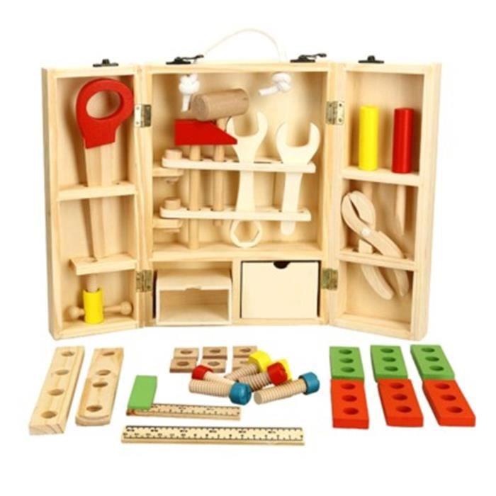 Outil de bois jouets boîte à outils enfants jouet jouet éducatif outil de construction de bricolage