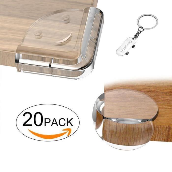 Protection Coin de Table bébé Protecteurs D'angles 20pcs protecteurs de coin transparent Protecteur de Meubles(10L+10y).