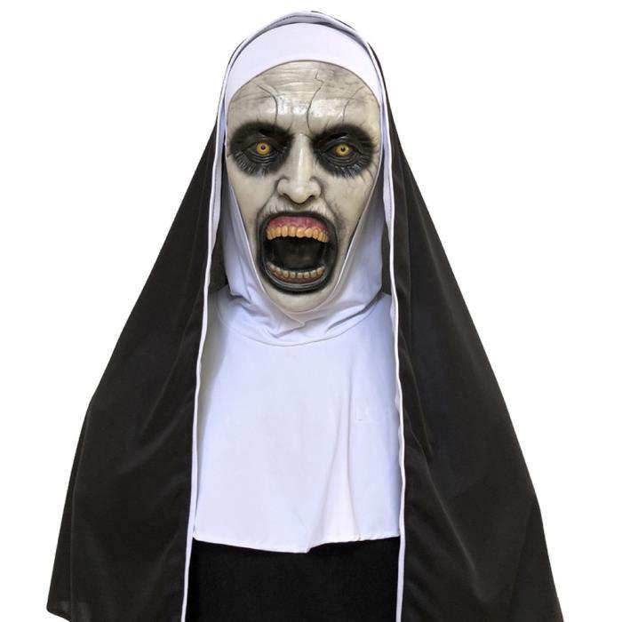 MASQUE VISAGE - ACCESSOIRE DEGUISEMENT VISAGE Cosplay effrayant horrible nonne masque visage fondant Latex Costume Halloween