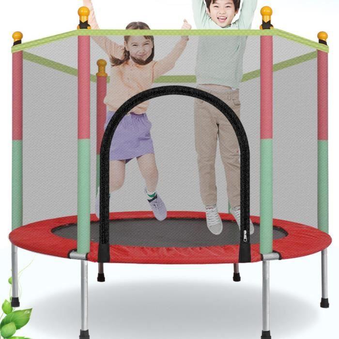 60 pouces rond enfants Mini Trampoline clôture filet protection rebondisseur exercice extérieur maison jouets sautant lit adultes