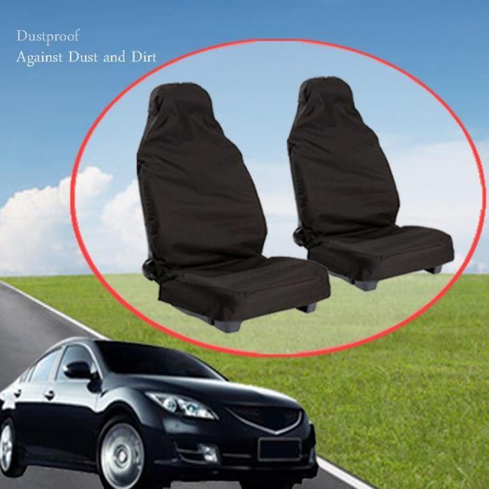 1 paire Heavy Duty étanche à l'avant de voiture universel Housses de sièges Protector MLC70804353_188