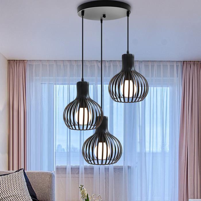 Yote Lustre Suspension Industrielle en Métal Lampe Plafonnier Style Retro pour Restaurant Salon Chambre Cuisine
