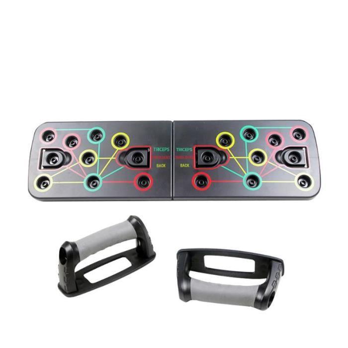 barre pour traction -Pousser le panneau de support 9 en 1 musculation Fitness outils...- Modèle: New Push Up Board - ZOAMFWZDA06555