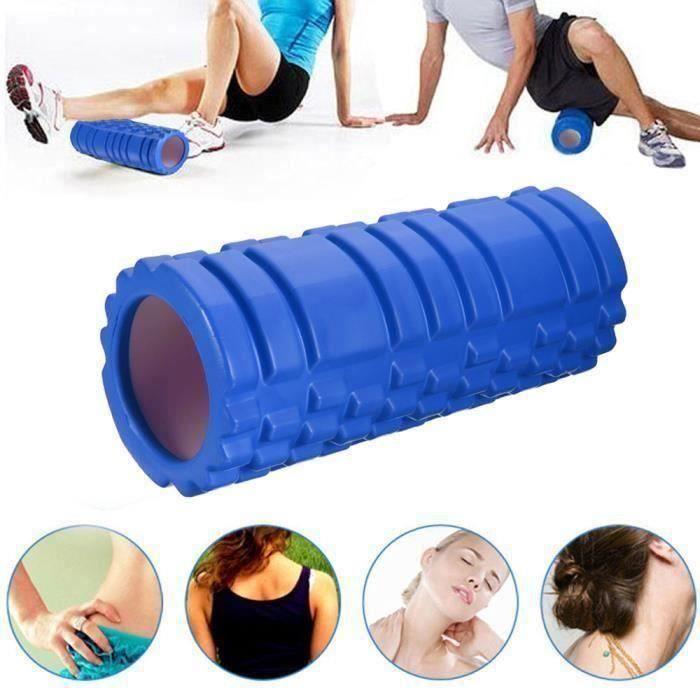 Rouleau de Yoga Mousse Muscle Massage EVA + PVC bleu Go61443