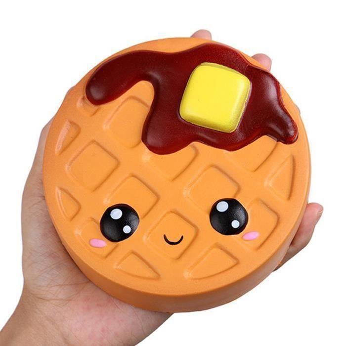 ME11212 Biscuits au chocolat au fromage Jumbo mignon Squishy lente montée douce serrer jouet sangle de téléphone parfumé
