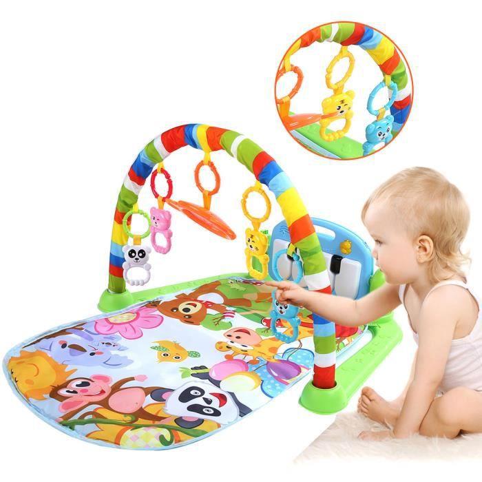 Rui DA® Tapis de Jeux Piano Enfant Bébé Tapis d'Éveil Musical 75 x 63 x 45cm Tapis de Gymnastique Jouet Éducatif pour Bébé 0-1